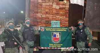 Batalhão Ambiental apreende caminhão com madeira ilegal em Manaus | Amazônia - Jornal A Crítica
