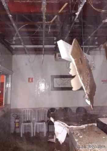 Forte chuva derruba parte do teto da Santa Casa de Buritama - G1