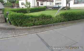 Verkehrszeichen in Morbach umgerannt und einfach weiter gefahren - Trierischer Volksfreund