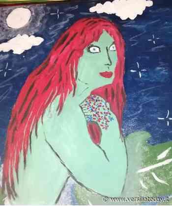 Il mito della Sirena di Viareggio rivive nella pittura dell'artista Nadine. - Versiliatoday.it