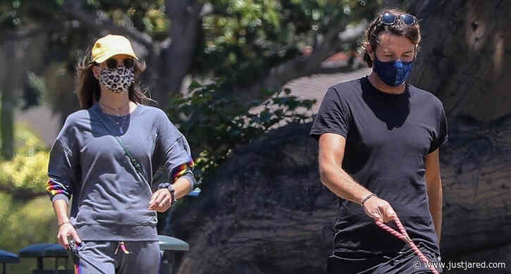 Alessandra Ambrosio & Boyfriend Nicolo Oddi Take Their Dogs for a Walk