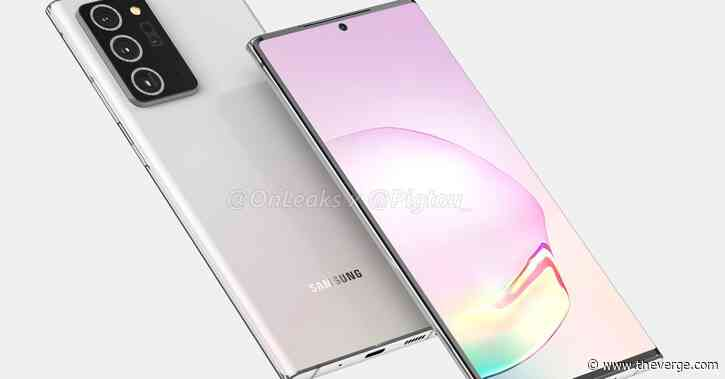 Samsung Galaxy Note 20 Plus renders suggest a slightly bigger screen and much bigger camera bump