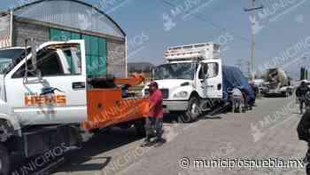 VIDEO Por GPS recuperan camión en Serdán robado en Tlaxcalancingo - Municipios Puebla