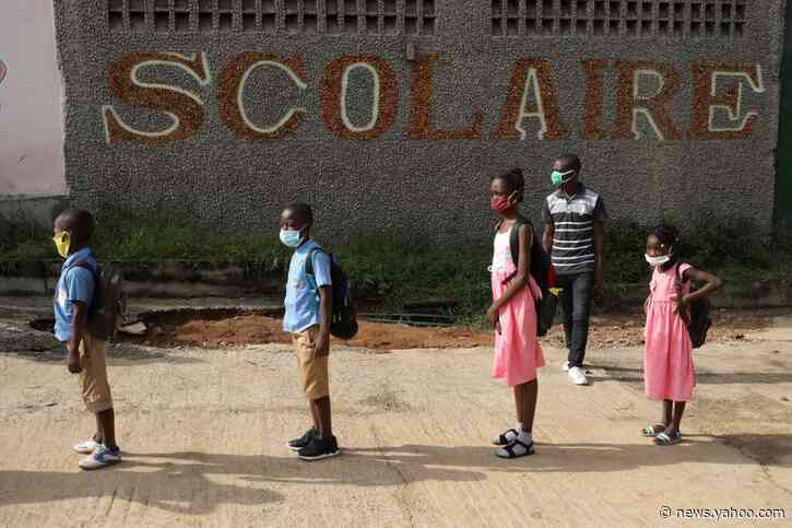 Ivory Coast children head back to school after virus shutdown