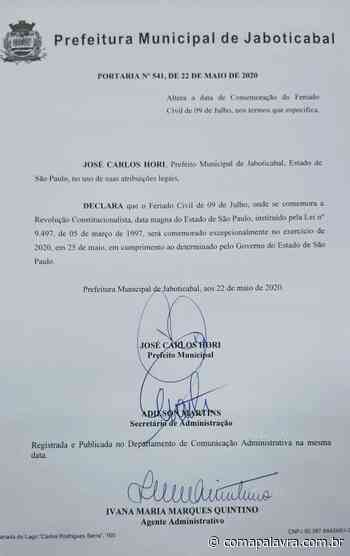 Feriado: nesta segunda-feira, Jaboticabal segue determinações do Governo Estadual - Com a Palavra