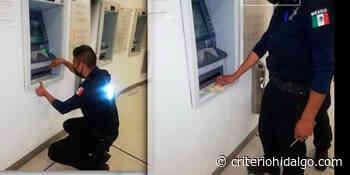 Alerta policía de Pachuca por artefactos en cajeros automáticos - Criterio Hidalgo
