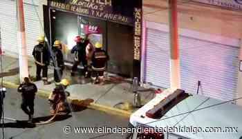 Atienden bomberos incendio en Pachuca - Independiente de Hidalgo