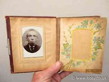 A Small Antique Photograph Album & Photographs c1890/1910