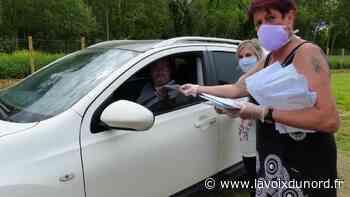 Les masques ont été emballés et distribués à Beuvry - La Voix du Nord