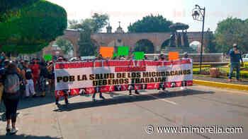 Marchan dueños de gimnasios de Morelia para que los dejen abrir - MiMorelia.com