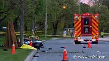 One person dead after motorcycle crash in Etobicoke - CP24 Toronto's Breaking News