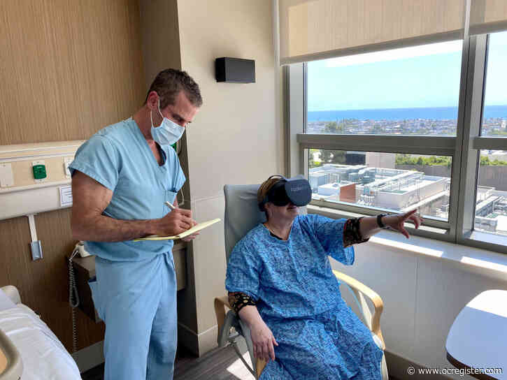 Patients use imagination to control pain with virtual reality program at Hoag Hospital