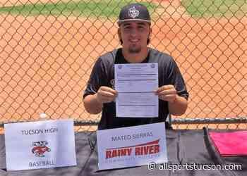 Tucson High baseball standout Mateo Sierras signs with Rainy River in Minnesota - allsportstucson.com