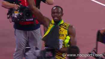 Usain Bolt wins 200m at 2015 worlds, gets hit by cameraman on Segway - OlympicTalk