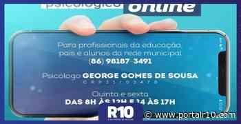 Santa Cruz dos Milagres disponibiliza atendimento psicológico online - Portal R10