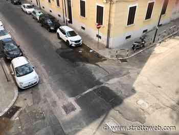 Reggio Calabria: copiosa perdita di acqua in via Vittorio Veneto - Stretto web