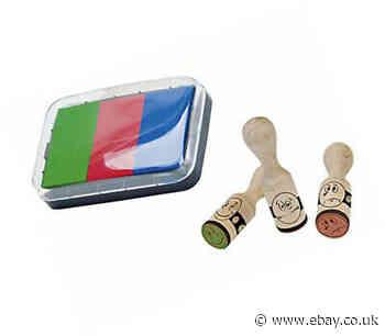 Brunnen 1048692 Reward Stamp Set with Smiley tif / 3 tif Stamps/Wood/with 3