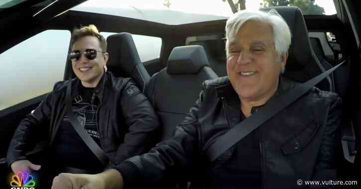 Hey, You Wanna See Jay Leno and Elon Musk Tootle Around Town in a 2021 Tesla Cybertruck? - Vulture