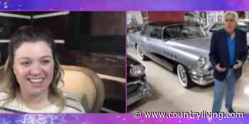 Jay Leno Gave Kelly Clarkson a Tour of His Epic Vintage Car Garage on 'The Kelly Clarkson Show' - countryliving.com