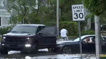 Heavy Downpours, Street Flooding, Tornado Warning for Memorial Day in South Florida