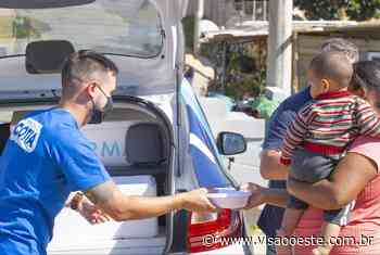 """Ação """"Cotia Solidária"""" distribui centenas de marmitas para famílias carentes - Portal Visão Oeste"""