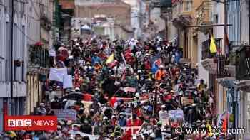 Coronavirus: Ecuador protests against cuts amid pandemic - BBC News