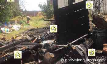 INCENDIO EN TERRENO BALDÍO EN QUIROGA - Notivisión TV