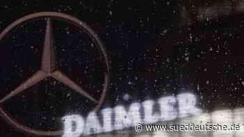 Daimler will Autos weltweit ab 2022 CO2-neutral produzieren - Süddeutsche Zeitung