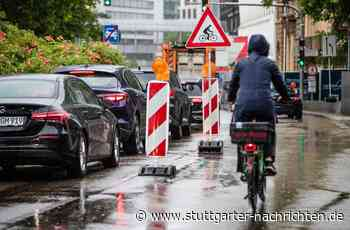 Greenpeace-Aktion in Stuttgart - Kaum Interesse an einem Pop-Up-Radweg - Stuttgarter Nachrichten