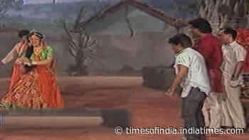 Flashback video! On sets of Anil Kapoor and Meenakshi Sheshadri starrer 'Amba'