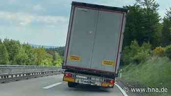 A4 bei Bad Hersfeld: Polizei stoppt Sattelzug mit kaputten Bremsen | Rotenburg / Bebra - hna.de