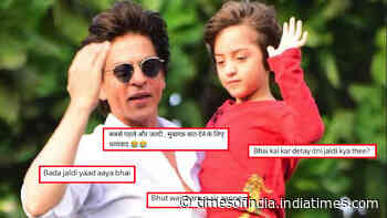 Shah Rukh Khan fans get disappointed after King Khan sends out late Eid Mubarak wishes, says, 'Bada jaldi yaad aaya bhai'
