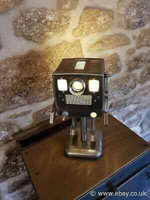 The  'Dimwatt 2000' Service Robot lamp, Industrial Art, Steam punk lamp