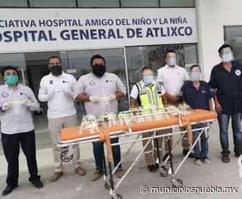 Fabrica Tec de Atlixco mascarillas para al Complejo Médico de Atlixco - Municipios Puebla