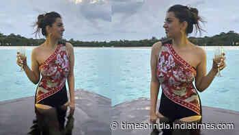 Hansika Motwani shares monokini clad dreamy throwback picture, Khushbu Sundar and Trisha Krishnan drop coolest comments