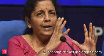 Extend loan automatically to all eligible borrowers without fear of 3Cs: Finance Minister Nirmala Sitharaman to banks - Economic Times