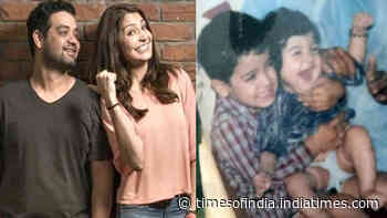 Anushka Sharma looks adorable sitting in her brother Karnesh Sharma's lap in this throwback childhood picture