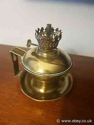 Vintage Small Solid Brass Hurricane Lamp