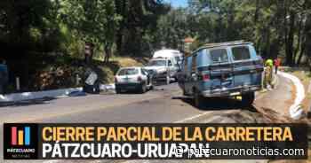 Reportan cierre parcial de la carretera Pátzcuaro-Uruapan por accidente - Pátzcuaro Noticias