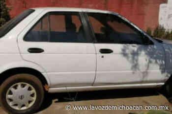 Aseguran vehículo con reporte de robo en Uruapan - La Voz de Michoacán