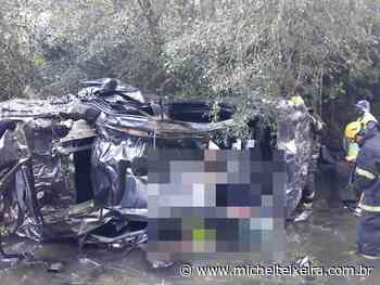 Jovem morre após carro com placas de Fraiburgo sair de pista na SC-355 em Videira - Michel Teixeira