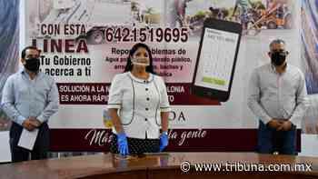 En Navojoa inauguran línea de apoyo para dar atención a las quejas de la ciudadanía - TRIBUNA