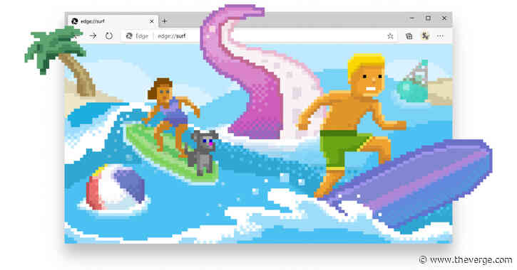 You can now play Microsoft's new surf game inside the Edge browser