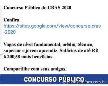 Mensagem de concurso público dos CRAS publicada em grupos de Ituiutaba é falsa - Pontal Emfoco
