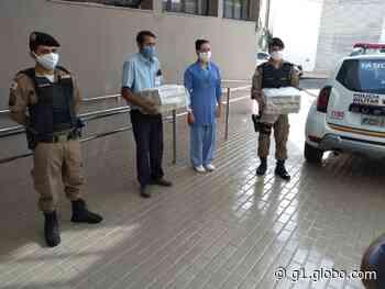 Respiradores recuperados são entregues a unidades de saúde pela PM em Ituiutaba - G1