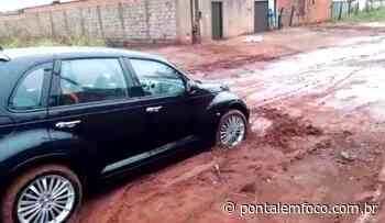Após chuva, moradores denunciam más condições em vias não pavimentadas em Ituiutaba - Pontal Emfoco