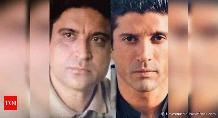 'Like father like son' - Pic of Javed & Farhan