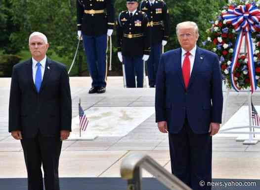 Trump news – live: Pentagon watchdog becomes latest to resign over coronavirus, as widower pleads for end to president's trolling over wife's death