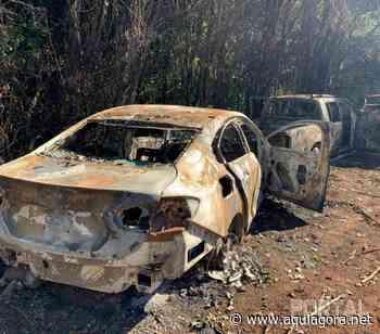 Três veículos são localizados totalmente destruídos pelo fogo em Palotina - Aquiagora.net