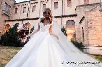 Actress Debby Ryan got secretly married wearing an Elie Saab wedding gown - Arab News